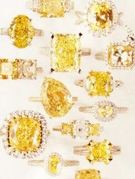 Canary Yellow Diamond Rings at London Jewelers.
