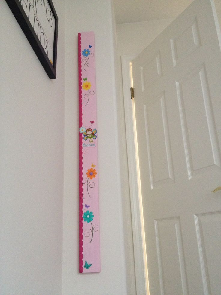 My granddaughter's growth chart!