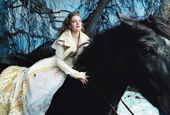 Annie Leibovitz Disney Dream Portrait: Drew Barrymore as Belle