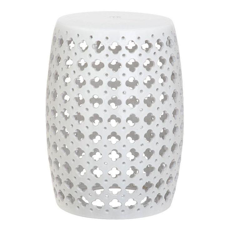 Safavieh Lacey Ceramic Garden Stool, White