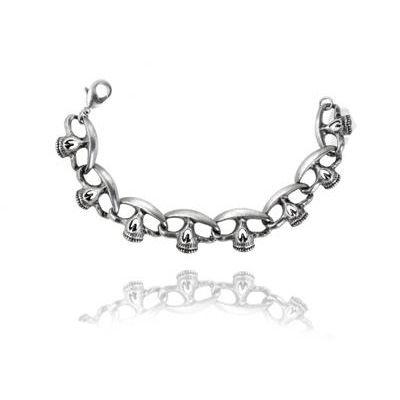 Headcount skull bracelet www.attitude-europe.com #Silver #Gothic #bracelet www.attitude-europe.com
