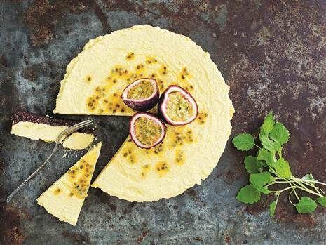 Solskens- cheesecake med passionsfrukt