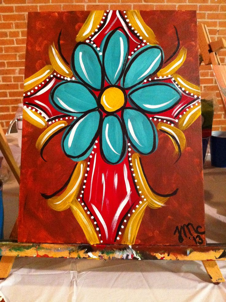 Painting party cross