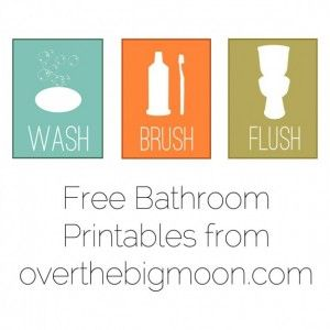 free printables @overthemoon: Bathroom Design, Modernbathroom, Bathroom Prints, Kids Bathroom, Modern Bathroom, Kid Bathrooms, Bathroom Printables, Free Printables, Bathroom Decoration