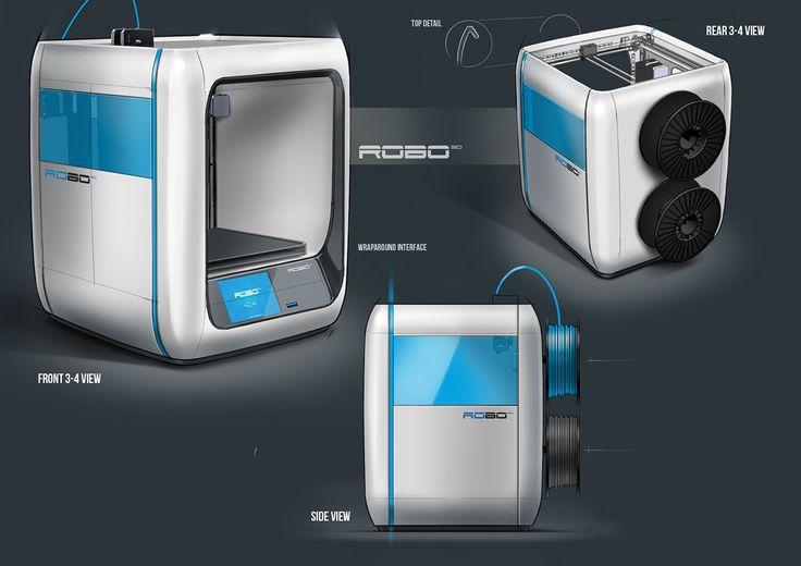 Robo 3D Printers on Behance