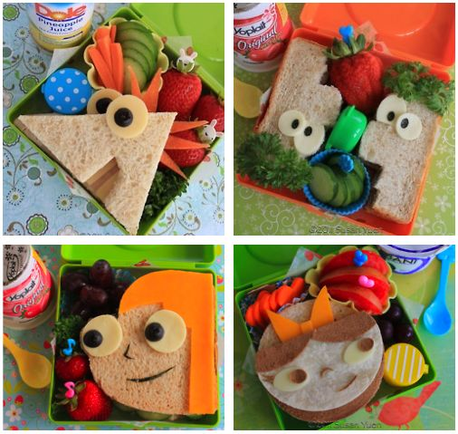 Phineas and Ferb bento - http://susanyuen.wordpress.com/2011/07/20/what-are-we-gonna-do-today/#entry