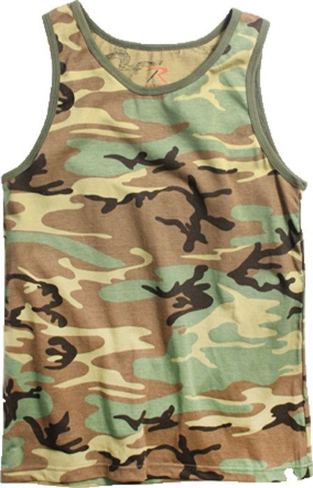 Woodland Camouflage Military Physical Training Tank Top | 6702 | $7.99