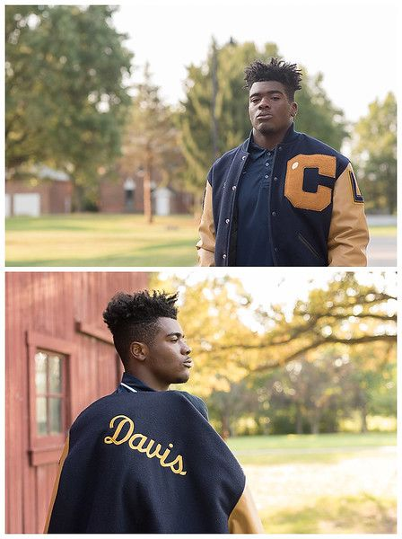 Cathedral High School, Indianapolis; Senior Guy Session, with varsity letterman jacket