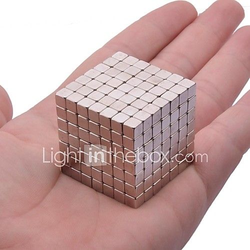 Magnet Toys 216Pcs 5mm Magnet Toys Neodymium Magnet Executive Toys Puzzle Cube DIY Toys Magnetic Balls Silver Education Toys For Gift 2017 - £10.61