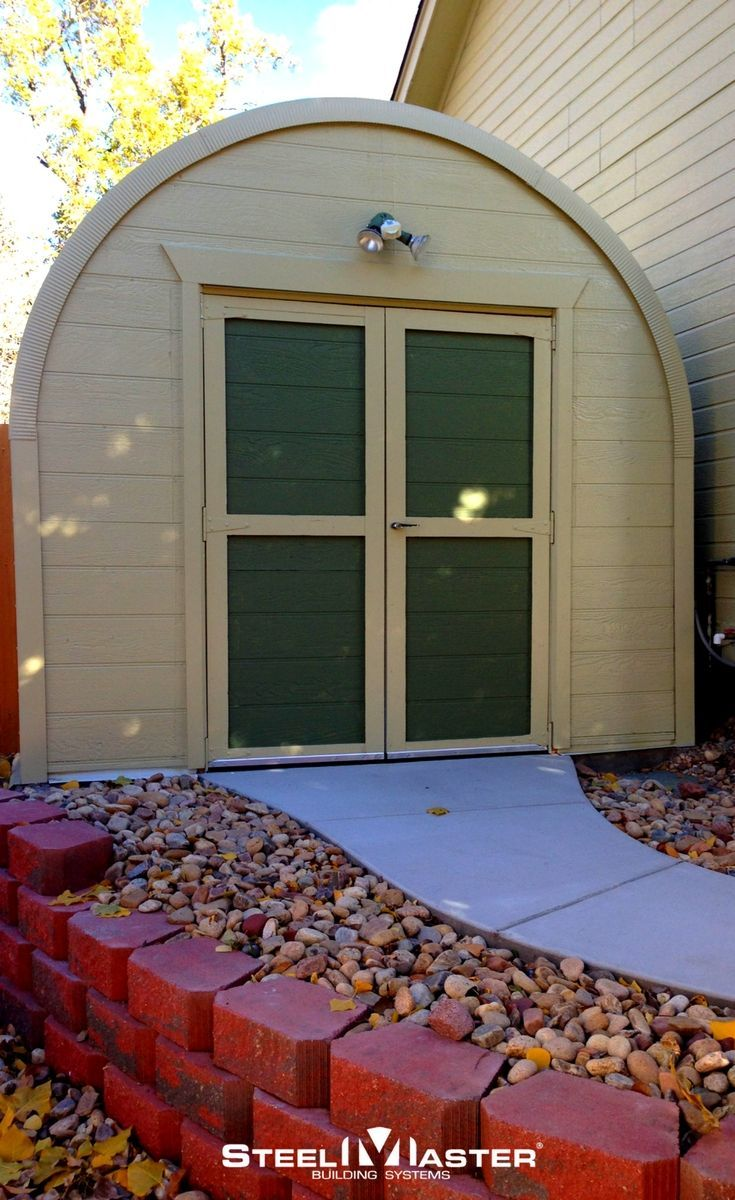 SteelMaster's durable, affordable Quonset Hut metal sheds are specially designed to give customers the best quality storage at a competitive price. metal sheds | cheap sheds | affordable sheds | she sheds | garden sheds #metalgardensheds