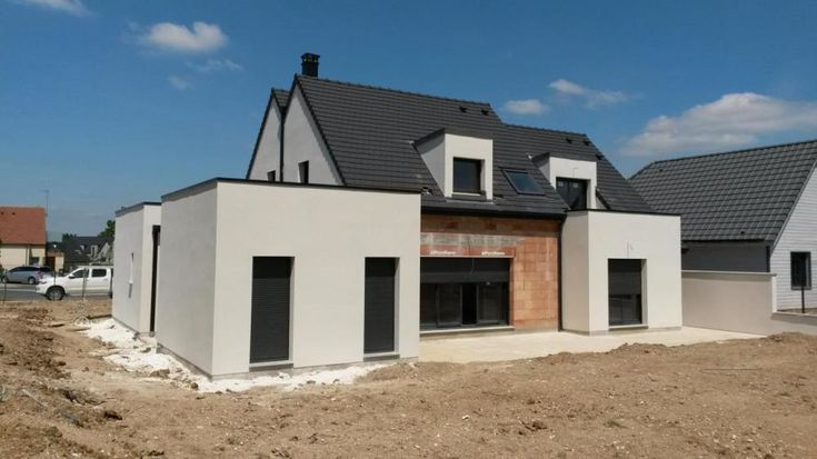 Construction à SAINT-FUSCIEN (80680) #Habitat #Concept #HabitatConcept #Constructeur #Maison #plan #idée #inspiration