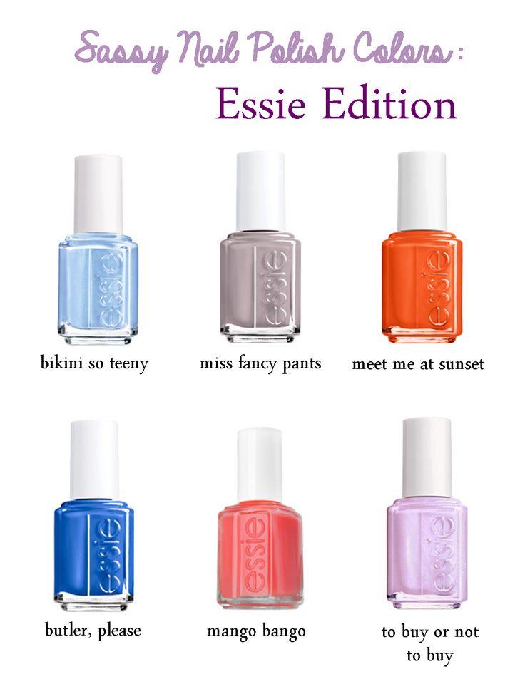Essie Nail Polish Color Chart Exceptional essie spring colors #9 essie ...