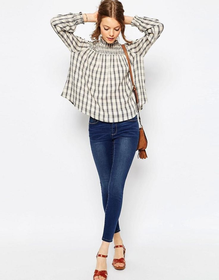 ASOS | ASOS Check Smock Top at ASOS
