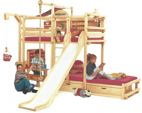 Or maybe 2 loft beds with slides?!?