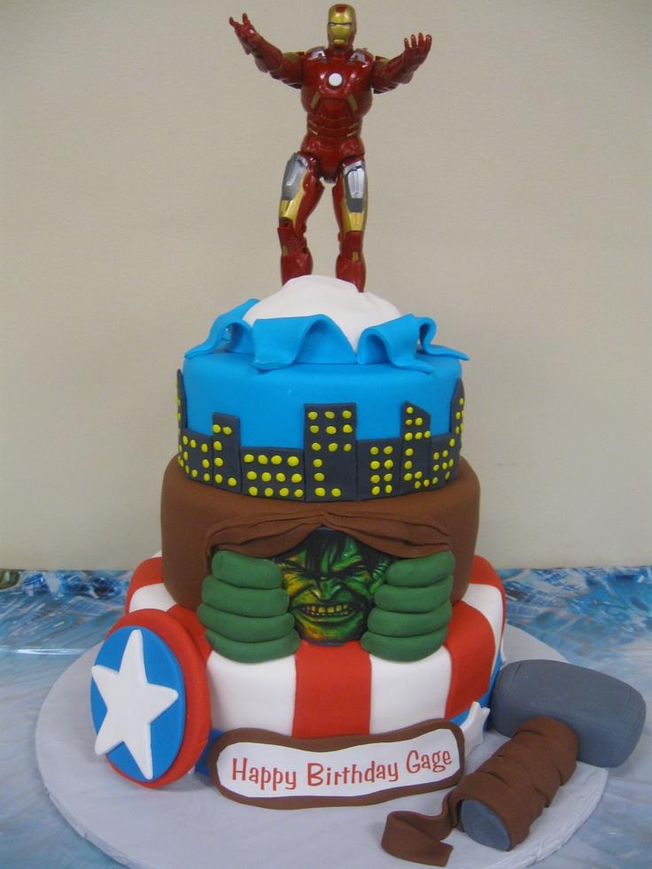 Avengers Birthday Cakes on Pinterest  Marvel cake, Marvel birthday ...