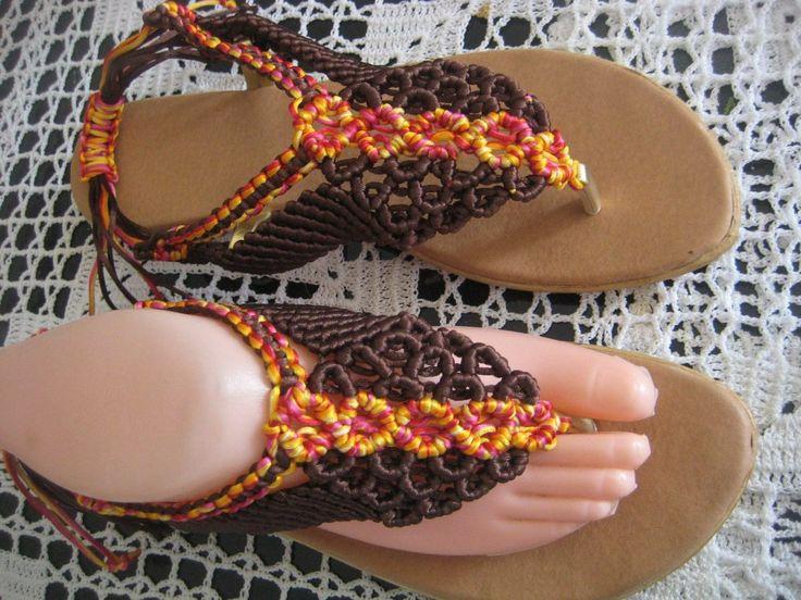sandalias en macrame diseños personalizados
