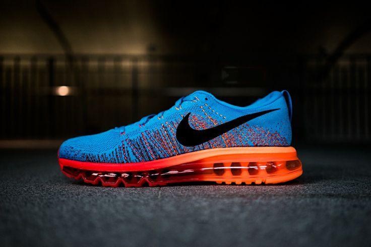Nike Air Flyknit: Blue/Orange