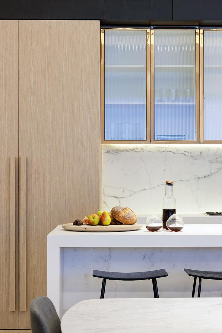 Ribbed glass front cabinets_Collins House Display Suite / Bates Smart