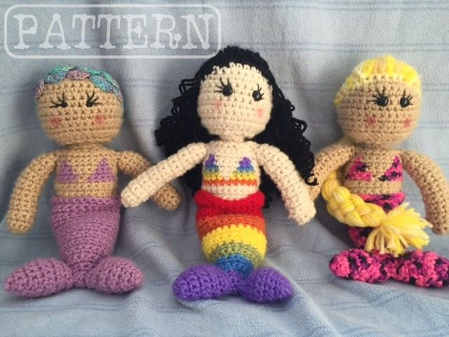 Free Crochet Amigurumi Mermaid Pattern : Best crochet i like mermaids images