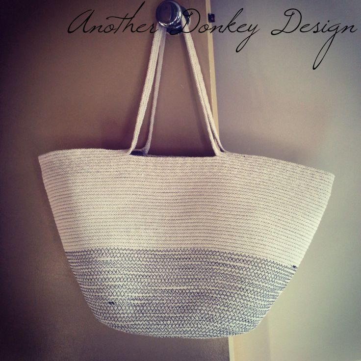 Rope basket by anotherdonkeydesign.com.au  60m of rope, a home sewing machine and a bit of regular thread