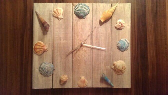 Mon horloge coquillage
