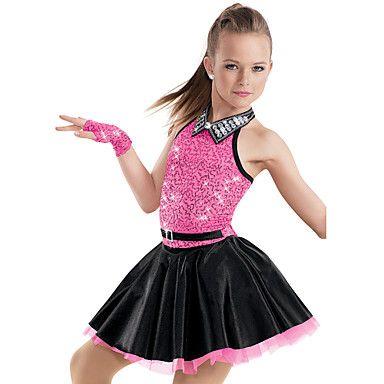 Jazz Dance Dancewear Adults' Children's Sequin Jazz Dress Kids Dance Costumes – USD $ 69.99