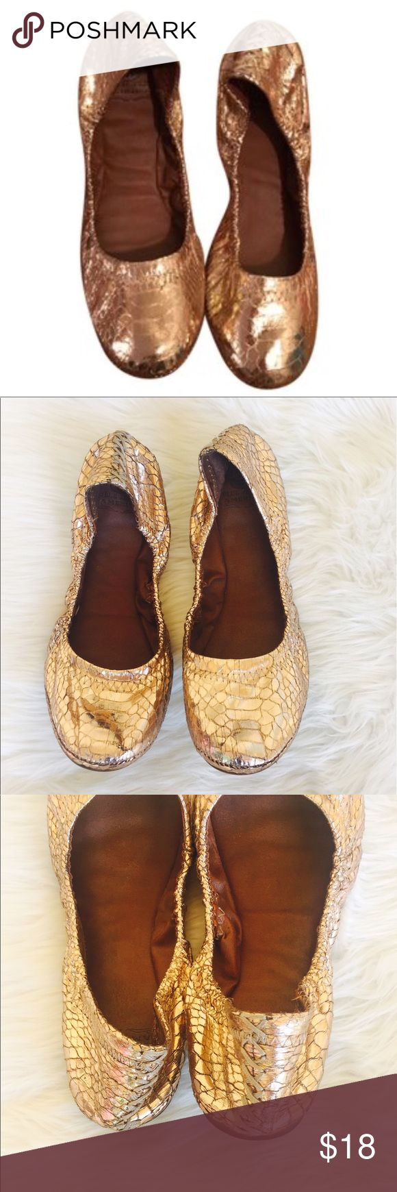 LUCKY Brand copper metallic flats Sz 7 M Type:Flats Size:7 Brand:Lucky Brand Color:Copper Style/Collection:Lucky Brand Copper Flats Condition: gently use shows minimal wear soles are good, no trades but I will gladly bundle Lucky Brand Shoes Flats & Loafers
