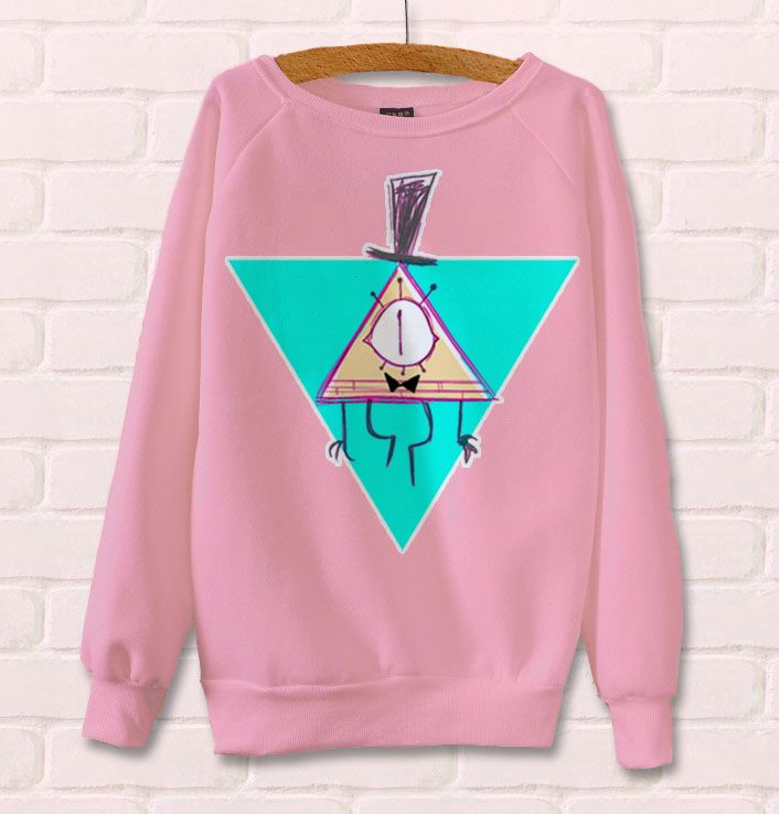 Sketchy Pastel Bill Cipher Long Sleeve T-Shirt from RadJinja Merchandise