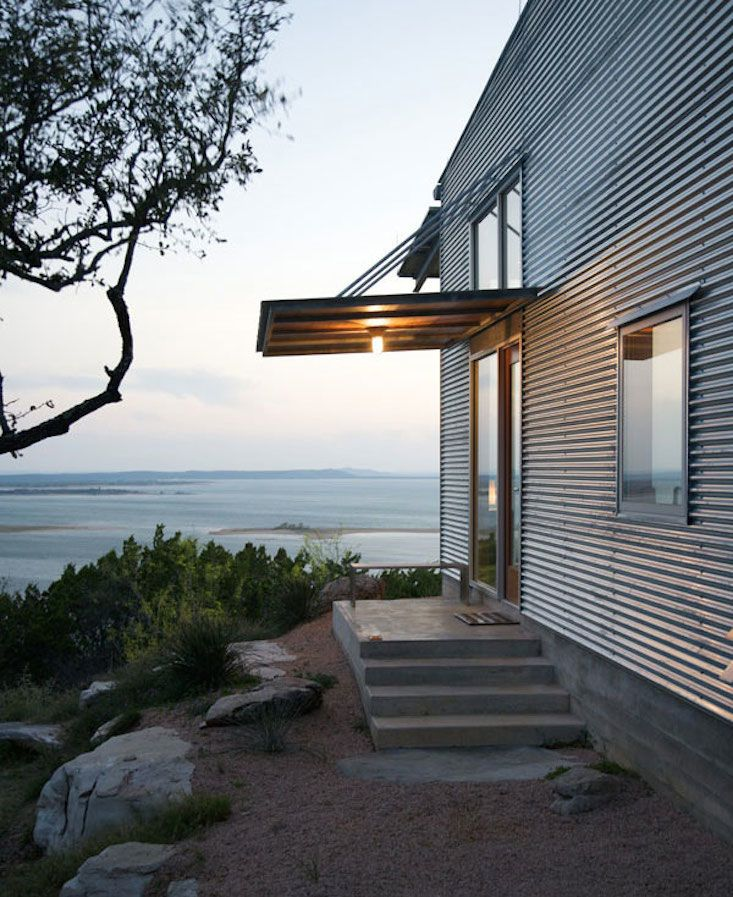 Nearly 200 years after British civil engineer Henry Robinson Palmer came up with the idea to crease thin sheets of metal to make corrugated metal siding, architects still come up with new ways to use his invention. Here are nine stylish ways to use the lightweight, low-cost, sturdy material on facades: