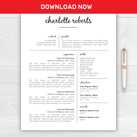 ResumeCv  Charlotte By Resume Template Studio On MywpthemesXyz