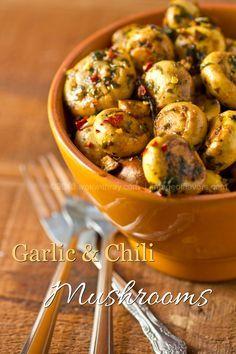 Tapas - Garlic & Chili Mushrooms | wokwithray.net- Filipino & Asian Home Style Cooking