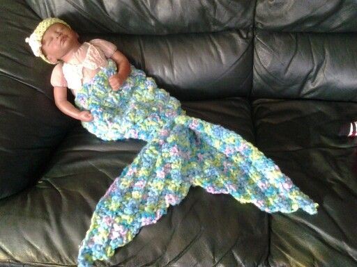 mermaid cocoon with seashell bra & starfish headband
