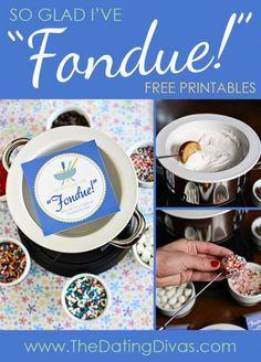 Fondue + my Husband = Great Date Night! Can't wait! http://www.TheDatingDivas.com