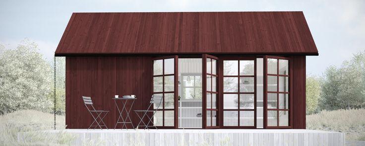 Nyckelfärdigt Attefallshus c/o 25 från från 349.000. Som komplett hem med kök och badrum från 403.900 kr.