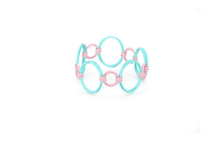 Ring Ring Bling Circle and Oval Bangle by Blossom Handmade on hellopretty.co.za