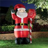 Lytworx Inflatable Santa With Stop Here Sign