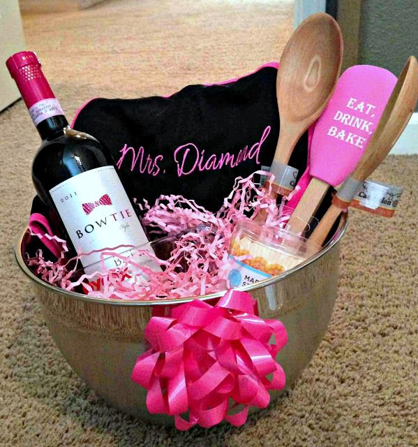 Again, gonna do something like this for my sister in law-Cute Bridal Shower Present Idea!