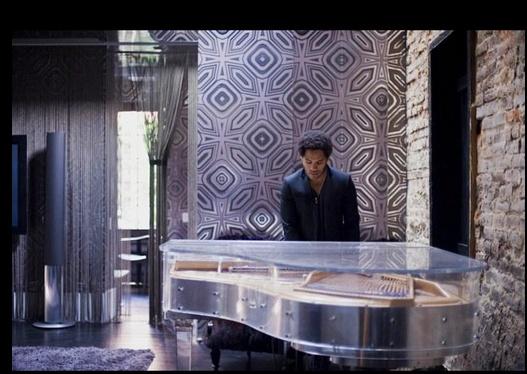 Lenny Kravitz at the Piano