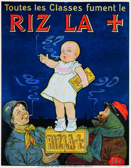 """Affiche publicitaire guerre 1914 - 18 - """"La pub est déclarée! 1914-1918"""""""