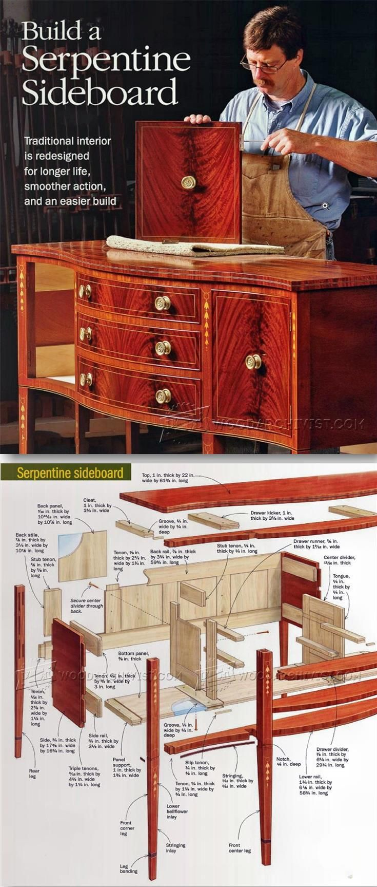 How to build a wingback chair my woodworking plans - Sideboard Plan Furniture Plans And Projects Woodarchivist Com Furniture Plansdiy