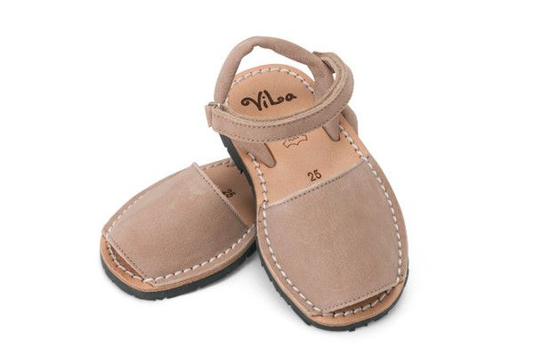 Beige leather sandal