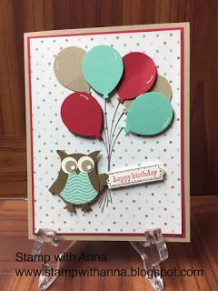 Stamp with Anna: Owl Birthday Balloons