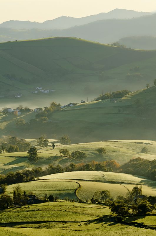 Pays Basque by Jean Isard, via 500px similar to my views on my drive to work every morning