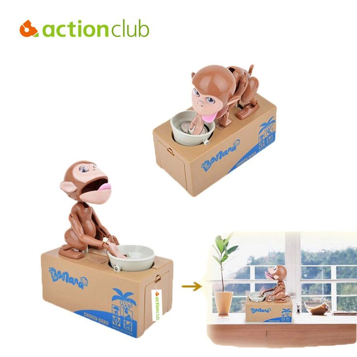 Electronic Pet Toys Cute Kids Money Box Monkey Piggy Children Money Storage Animal  Coin Bank Adorable Kids Toys Gift