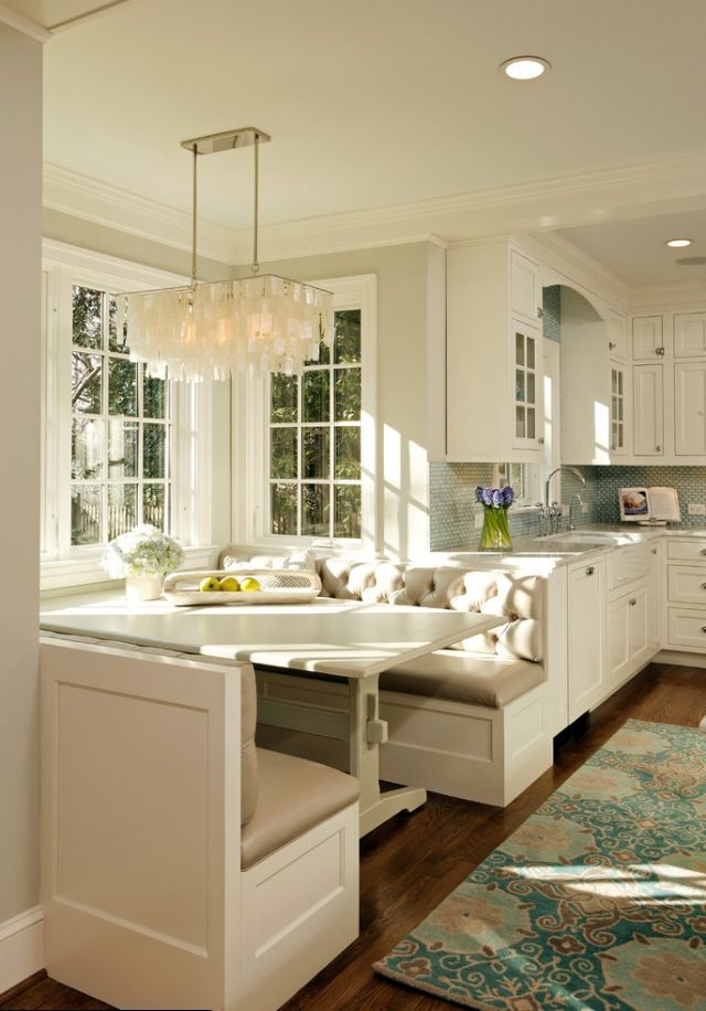Breakfast Nook: like the idea but could we fit it in our new kitchen reno plan?