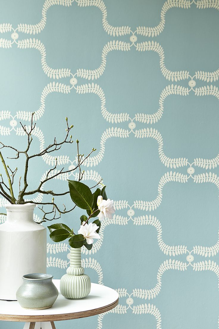 Up The Garden Path   Teal   Wall Covering