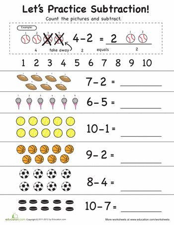 math worksheet : 1000 ideas about subtraction worksheets on pinterest  math  : Subtraction Worksheets With Pictures