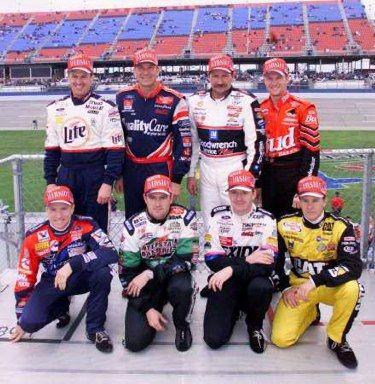 Rusty, Dale Jarrett, Dale Earnhardt, Jr, Mark Martin, Bobby Labonte, Jeff, and Ward Burton.  #OLDSCHOOLNASCAR