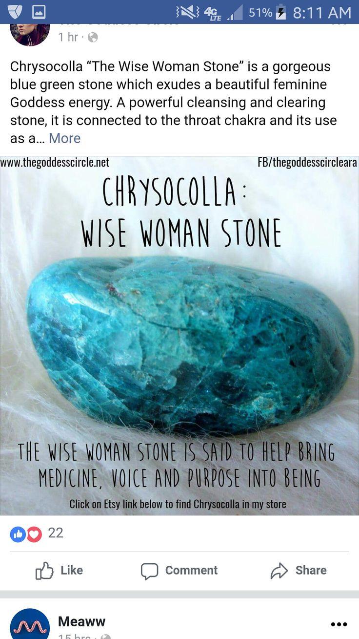 Chrysocola, wise woman stone