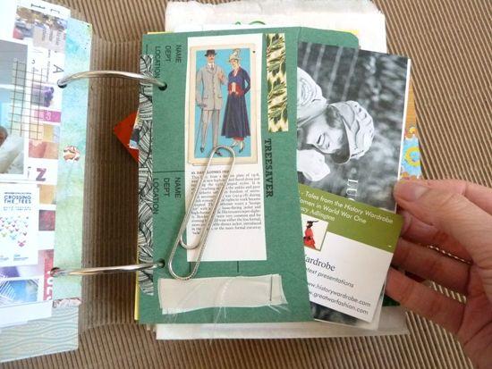 Filling a Junk Journal: My 'Summertime 2014' album *Part 5*. Ways to store ephemera in your album by Julie Kirk